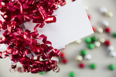 Gift Box and Tag Royalty Free Stock Photography