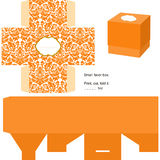 Gift box template Stock Photography