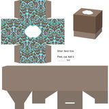 Gift box template Royalty Free Stock Images