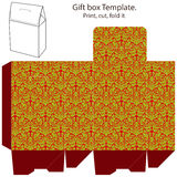 Gift box template Stock Photos