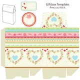 Gift box template Stock Photo