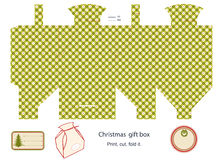 Gift box template. Stock Photography
