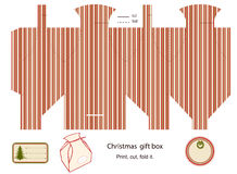 Gift box template. Stock Images