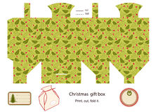 Gift box template. Royalty Free Stock Images