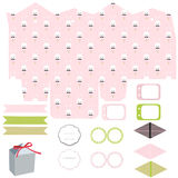 Gift box template, Easter party set Royalty Free Stock Photos