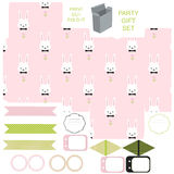 Gift box template, Easter party set Stock Image
