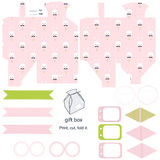 Gift box template, Easter party set Royalty Free Stock Photography