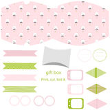 Gift box template, Easter party set Royalty Free Stock Image