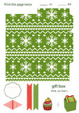 Gift box template Royalty Free Stock Photography