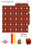 Gift box template Stock Images