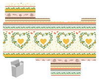 Gift box template Royalty Free Stock Image