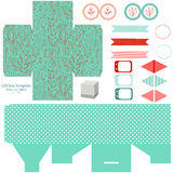 Gift box template  party set Stock Photography