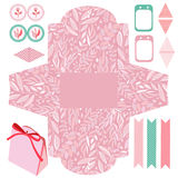 Gift box template  party set Stock Photos