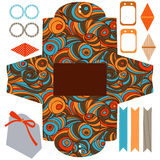 Gift box template  party set Stock Photo