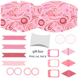 Gift box template  party set Royalty Free Stock Photography