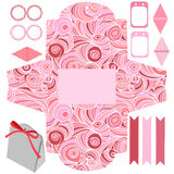 Gift box template  party set Royalty Free Stock Photo