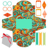 Gift box template  party set Royalty Free Stock Photos