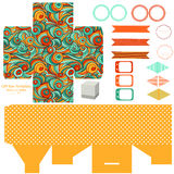 Gift box template  party set Stock Image