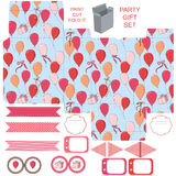 Gift box template  party set Royalty Free Stock Images