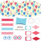Gift box template  party set Royalty Free Stock Image