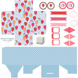 Gift box template  party set Stock Images