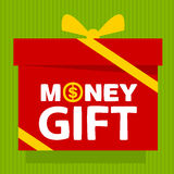 Gift box with text  money gift Royalty Free Stock Photography
