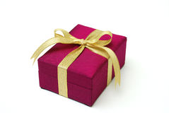 Gift box - Thai silk Royalty Free Stock Images