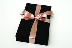 Gift box - Thai silk Stock Photos