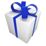 Gift box tied with a bow Royalty Free Stock Images