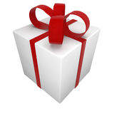 Gift box tied with a bow Royalty Free Stock Photo
