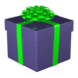Gift box tied ribbon with a bow. 3D rendering. Stock Images