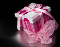 Gift box and tissue Stock Images