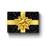 Gift box top view isolated Vector template Royalty Free Stock Image
