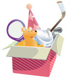 Gift box with  toys. Stock Photo