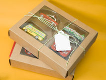 Gift Box With Toys royalty free stock images