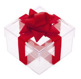 Gift box transparent Stock Image
