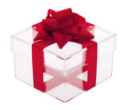 Gift box transparent Royalty Free Stock Photo