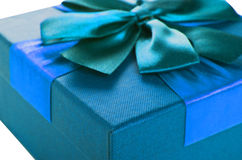Gift Box of turquoise color Stock Photography