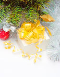Gift box under the tree Royalty Free Stock Photography