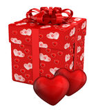 Gift box for Valentine's Day presents Royalty Free Stock Photos
