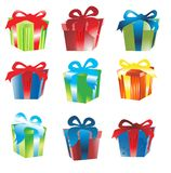 Gift box vector Royalty Free Stock Image