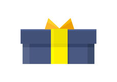 Gift Box Vector Icon in Flat Style Design Stock Image