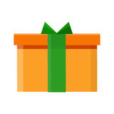 Gift Box Vector Icon in Flat Style Design Stock Photo