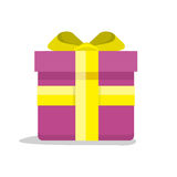 Gift Box Vector Icon in Flat Style Design Royalty Free Stock Image