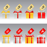 Gift box vector set Stock Photography