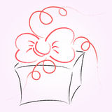 Gift box vector sketch Stock Photography