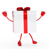 Gift box wave Royalty Free Stock Photos
