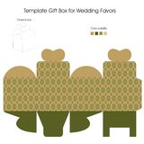 Gift Box for Wedding Favors. Present Box for Wedding Favors Royalty Free Illustration