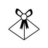 Gift box wedding present icon outline. Illustration eps 10 Royalty Free Stock Photos