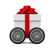 Gift Box on Wheels Stock Image